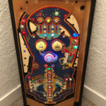 modern pinball playfield framed