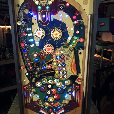 Eight Ball Deluxe Lighted Pinball Playfield
